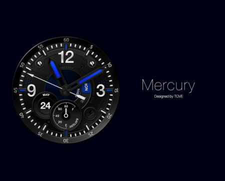 Mercury watchface by Tove